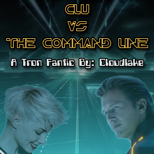 Clu vs the Command Line- a Tron fanfic cover art
